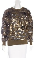 Isabel Marant Sequin Crew Neck Sweatshirt