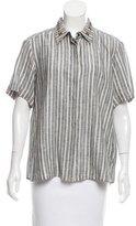 Max Mara Striped Linen Button-Up w/ Tags