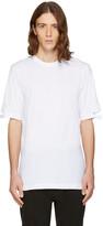Helmut Lang White Cut Hem T-shirt