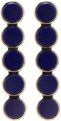 Anton Heunis Vintage stones disc earrings