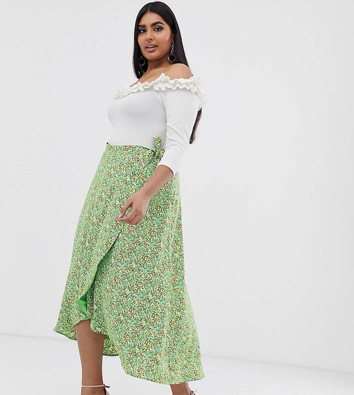 4b31828103 Wrap Skirt Floral Midi - ShopStyle