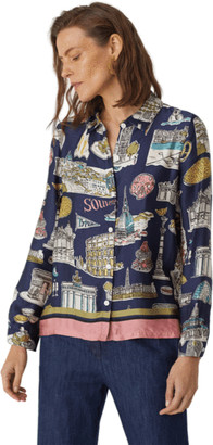 Nice Things Typical Places Print Fluid Shirt - 36