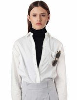 Thumbnail for your product : Amie New York Women's Knit Turtleneck Side Tie Bib Scarf Half Faux Face Neck Collar Dickies Mock Chemiset