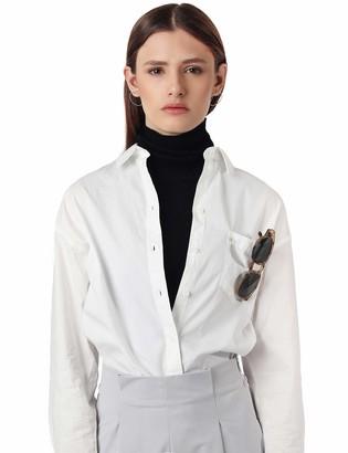 Amie New York Women's Knit Turtleneck Side Tie Bib Scarf Half Faux Face Neck Collar Dickies Mock Chemiset