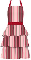 Waverly Holiday Accent Stripe 100% Cotton Women's Hostess Bib Apron, Red/White/Green