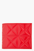 Gareth Pugh Red Patent Leather Geometric Embossed Wallet