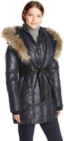 Rudsak Women's Sophie Down Coat with Leather Belt
