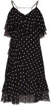 Balmain polka dot ruffle mini dress