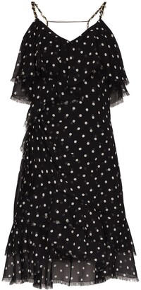 Balmain polka dot ruffle mini dress