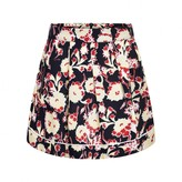 Marni MarniGirls Navy &Yellow Floral Viscose Skirt