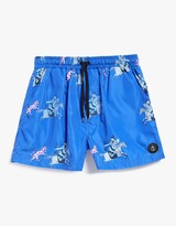 Warrior Swim Short in Electric Blue