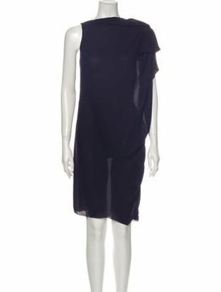 Lanvin Crew Neck Mini Dress Purple
