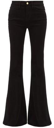 Frame Le High Super Flare Jeans - Black