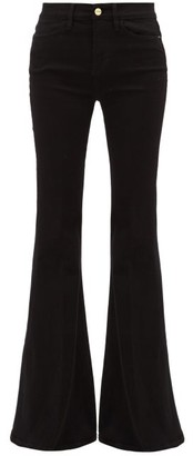 Frame Le High Super Flare Jeans - Womens - Black