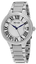 So & Co New York Madison Women's Quartz Watch with Silver Dial Analogue Display and Silver Stainless Steel Bracelet 5052B.1
