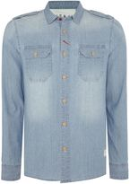 Schott Nyc Regular Fit Two Pocket Chambray Shirt