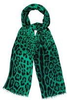 Dolce & Gabbana Leopard Print Fringe Scarf
