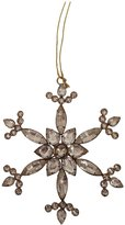 Arty Imports Beaded Snowflake Ornament - 5.5""