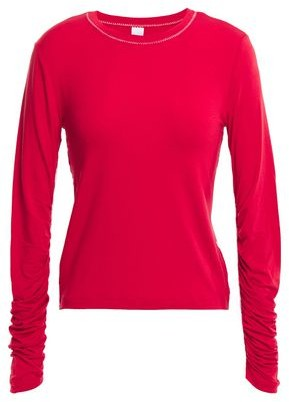 Carven Ruched Stretch-jersey Top