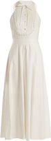 Temperley London Fountain halterneck cotton midi dress