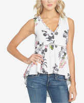 1 STATE 1.STATE Floral-Print High-Low Top