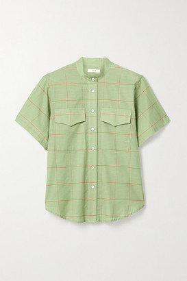MATIN Checked Cotton-voile Shirt - Green