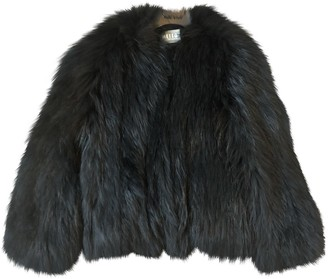 Meteo Black Fur Coat for Women