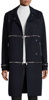 Diane von Furstenberg 1, 2, 3 Asymmetric Convertible Coat, Royal Navy