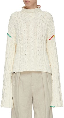 J.W.Anderson Crop cable knit sweater