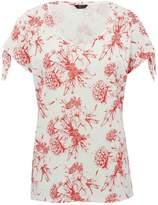 M&Co Floral tie sleeve top