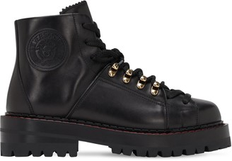Versace 40mm Leather Hiking Boots