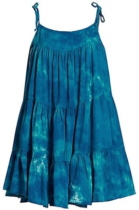 HONORINE Peri Tie-Dye Tiered Dress