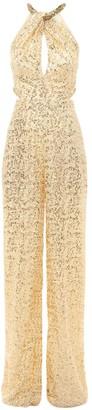 Dundas Sequined Cut Out Wide Leg Jumpsuit