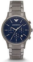 Emporio Armani Herringbone Chronograph & Date Bracelet Dress Watch