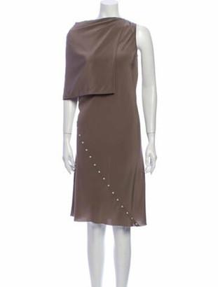 Rick Owens Silk Knee-Length Dress w/ Tags Grey