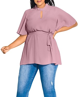 City Chic Plus Keyhole Tunic