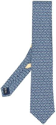 Salvatore Ferragamo Chess Piece Print Silk Tie