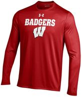 Under Armour Men's Wisconsin Badgers Logo Tech Tee