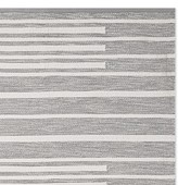 Williams-Sonoma Williams Sonoma Perennials® Piano Stripe Indoor/Outdoor Rug, Gray