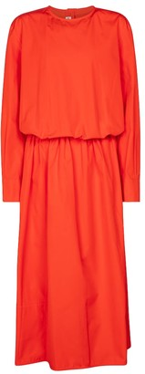 Cotton poplin midi dress