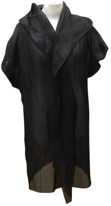 Dusan Black Silk Jacket for Women Vintage