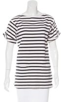 By Malene Birger Striped Short Sleeve Top