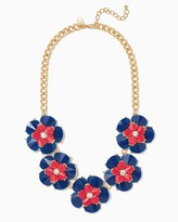 Charming charlie Iris Floral Bib Necklace Regular Price: $14.00 Special Price $8.40
