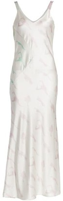 Alejandra Alonso Rojas Print Silk Slip Dress