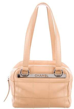 Chanel Square Quilted Bowler Bag