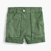 J.Crew Girls' utility short in garment-dyed cotton