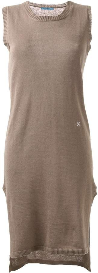 GUILD PRIME side slit fitted knitted dress