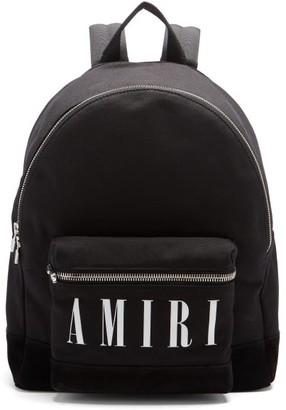 Amiri Logo-print Canvas Backpack - Black
