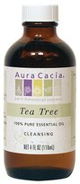 Aura Cacia Tea Tree, Essential Oil, 4 oz. bottle by