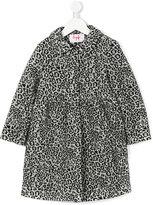 Il Gufo leopard print coat - kids - Cotton/Modal/Viscose/Wool - 2 yrs